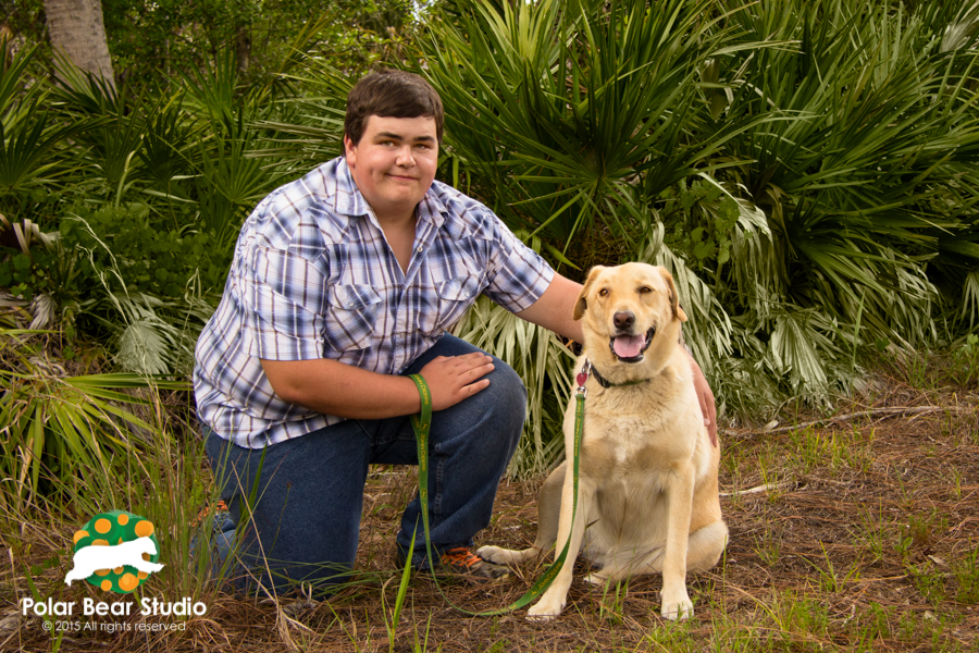 Florida Senior Guy Photo with Dog, photo by Polar Bear Studio
