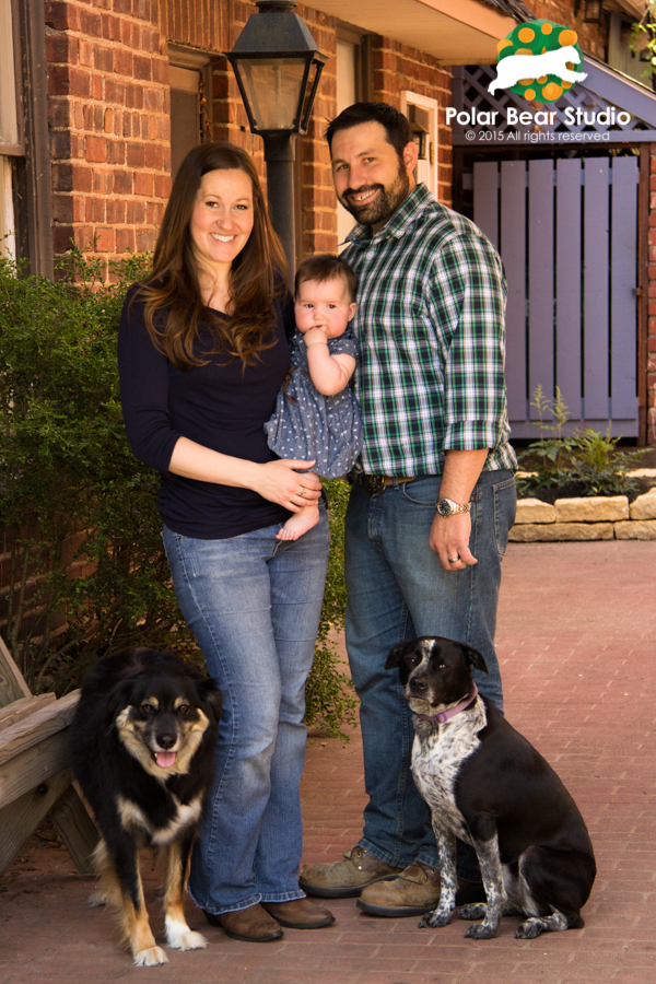 Furry family photos in downtown Zionsville, Indiana | Photo by Polar Bear Studio, Copyright 2015
