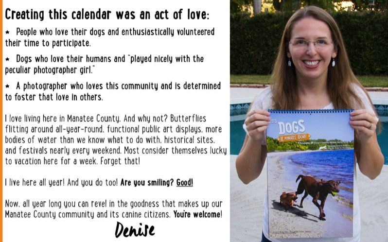 Creating This Calendar Was An Act of Love- Dogs of Manatee County Calendar